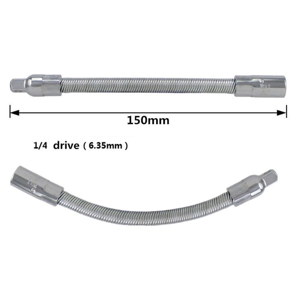 "2 pc Flex extension bar set 1//4/"" and 3//8/"" driver tool Flexible Shaft"
