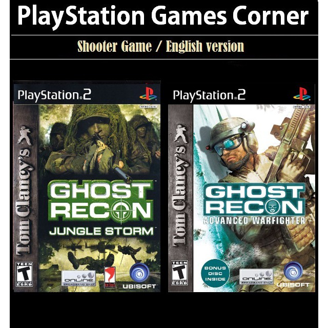 PS2 Game Tom Clancy\'s Ghost Recon Advanced Warfighter, Jungle Storm, Shooter Game, English version / PlayStation 2