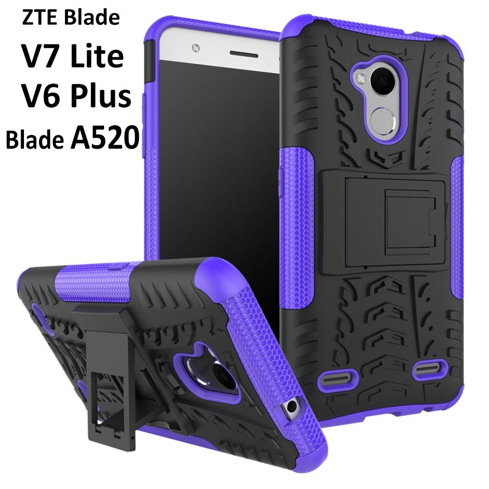 big sale 21f7f f1d0d ZTE Blade V7 Lite/Blade A520 /V6 Plus Kickstand Armor Shockproof Case Hard  Cover