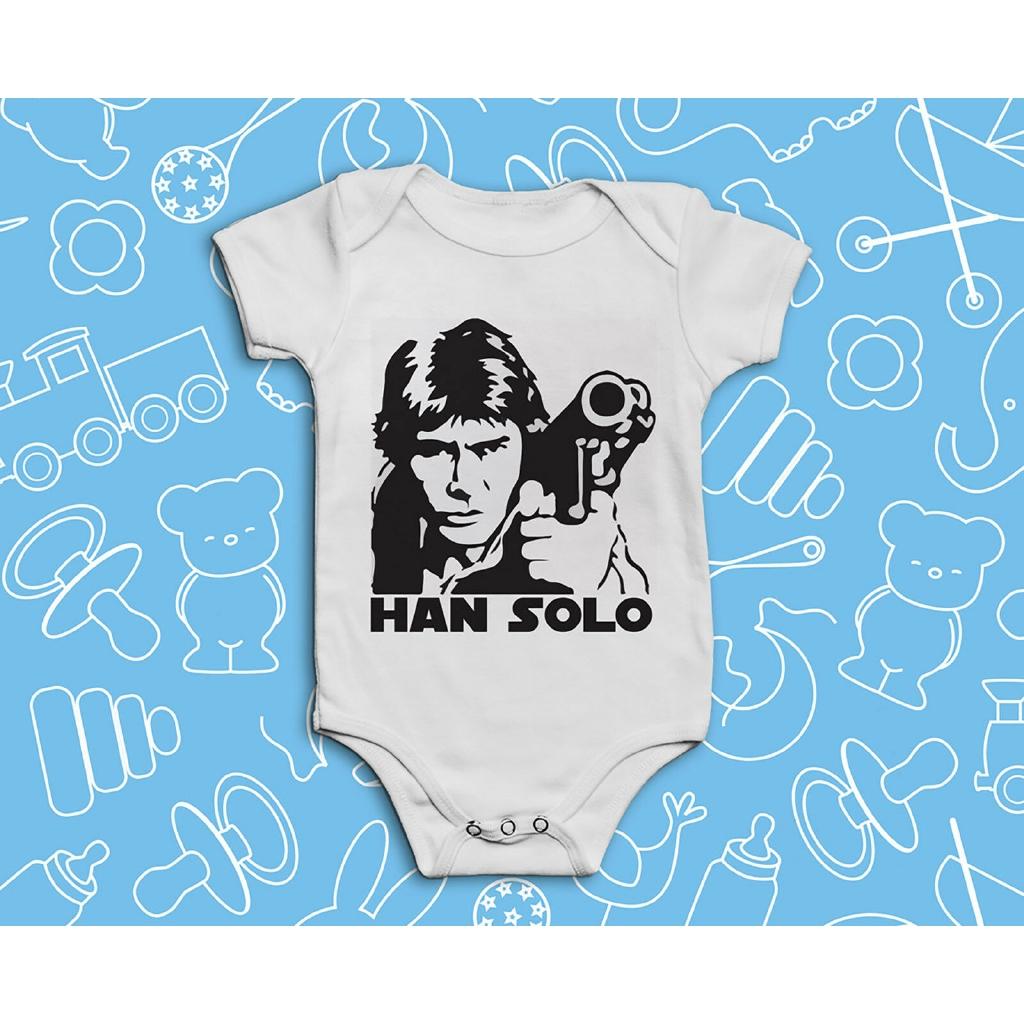 Star Wars Baby  Shower Present GiftHan Solo Bodysuit Vest Grow  Boys Girls