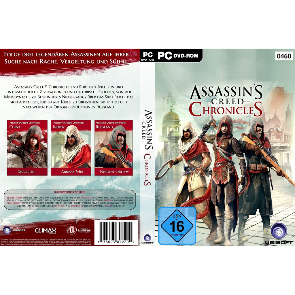 Pc Assassin S Creed Chronicles Trilogy Shopee Malaysia