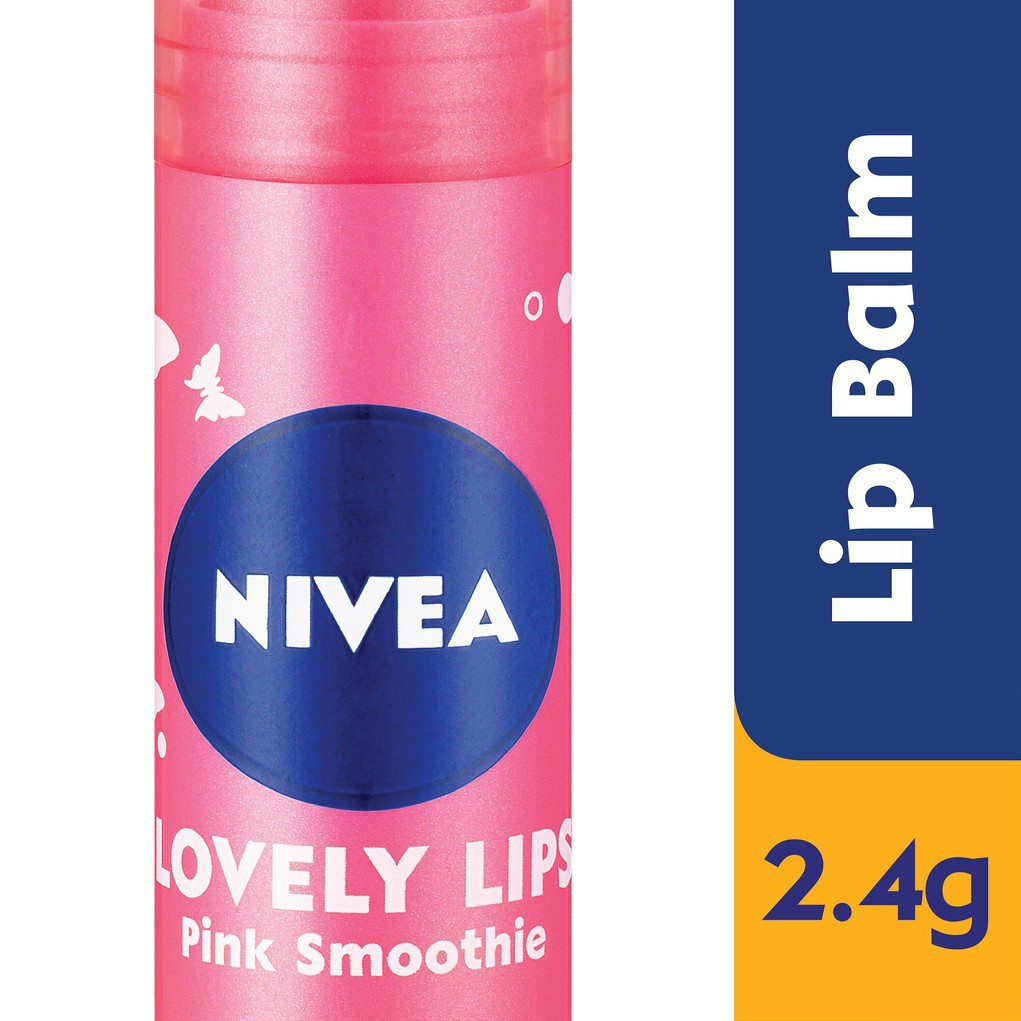Nivea Lovely Lips - Pink Smoothie (2.4g)