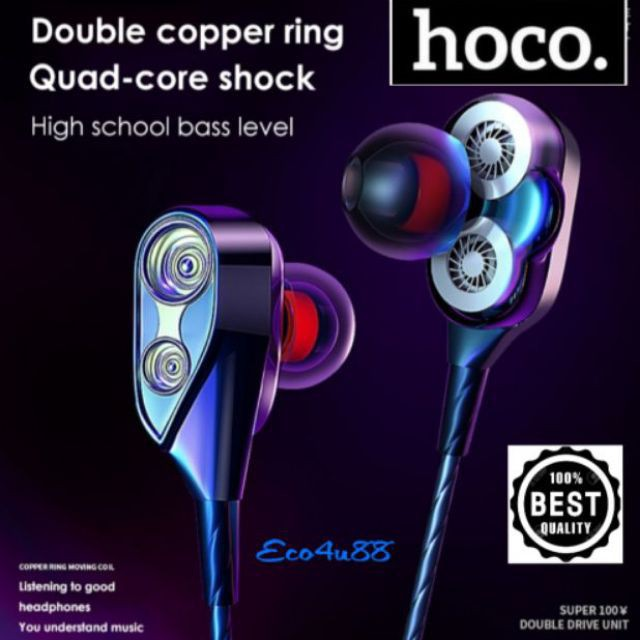 HOCO EARPHONES WIRE CONTROL M304 M303 STEREO/SUPERBASS