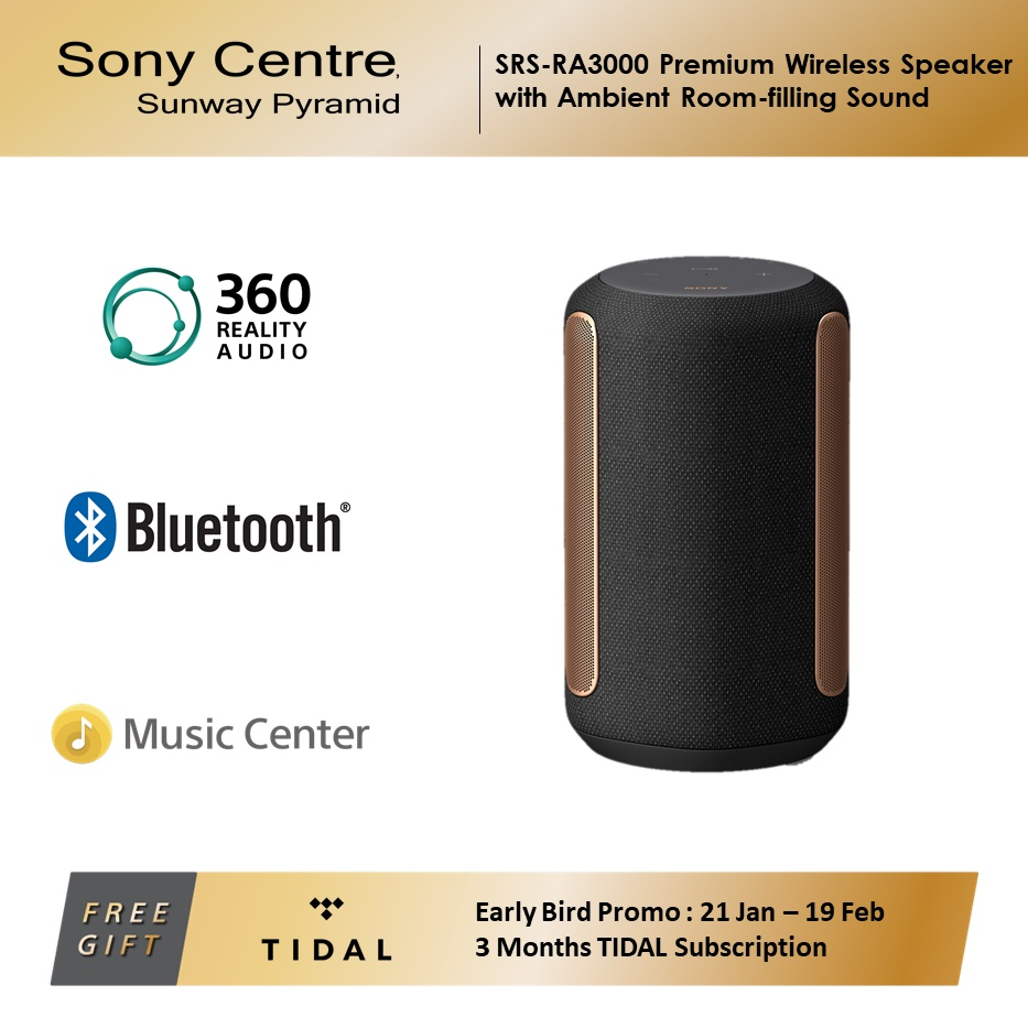 Sony SRS-RA3000 Premium Wireless Speaker with Ambient Room-filling Sound
