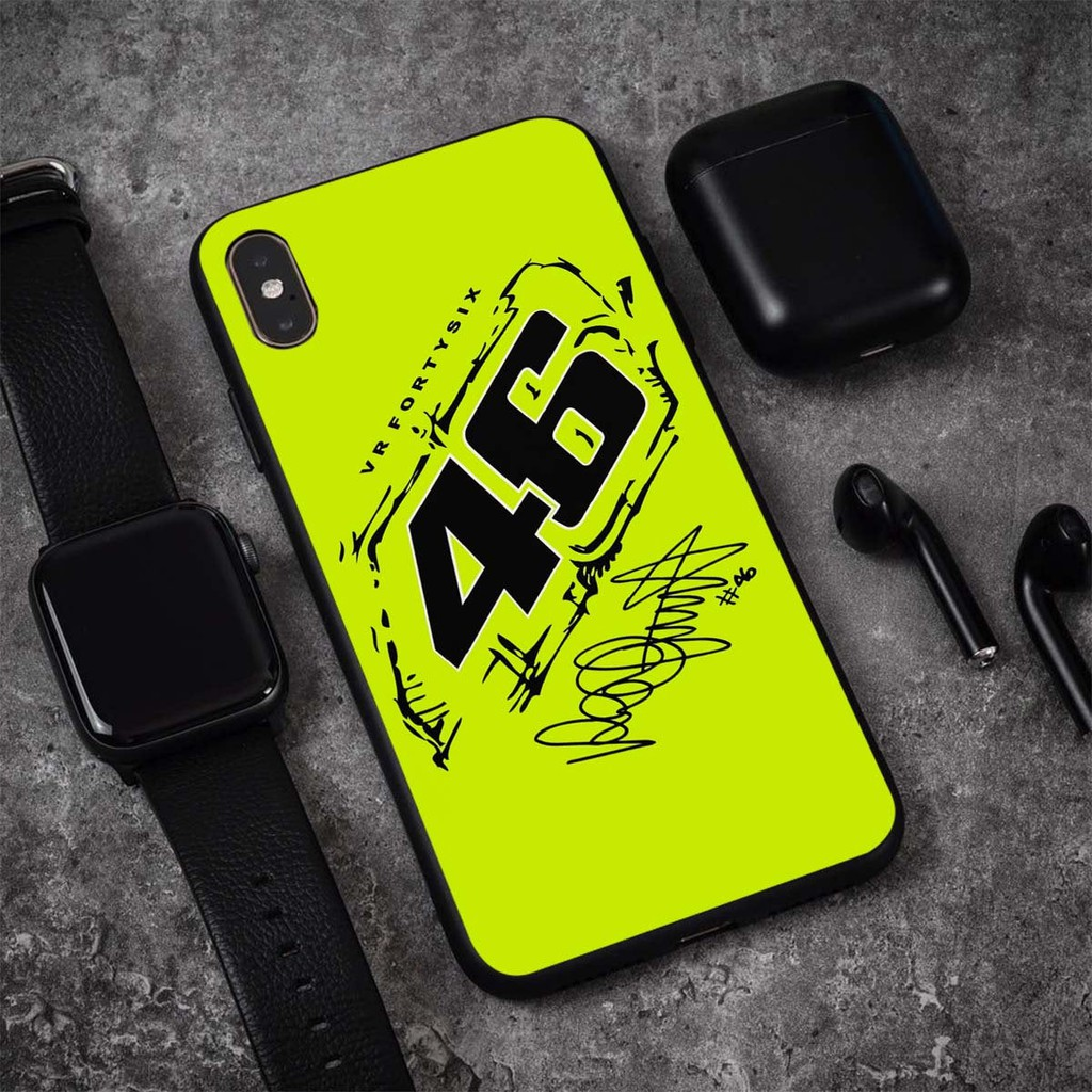Moto GP Valentino Rossi VR46 Case IPhone X 8/8 7/7 Plus 6S Case Custom Phone Case -4606