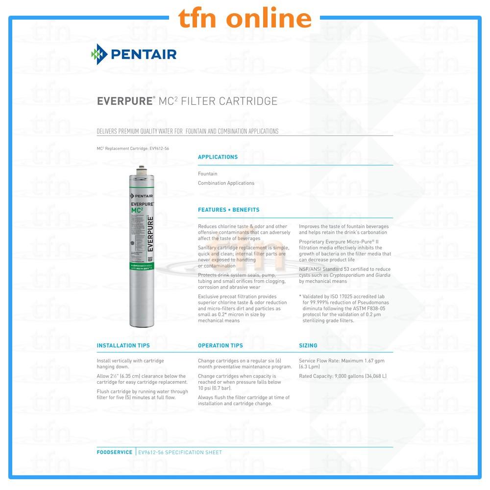 N.6 FILTRI EVERPURE MC2 EV9612-56