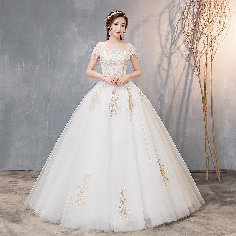 Wedding Gown Malaysia: Kwangsen Wedding Dress 2019 Qidi Bride Korean Fantasy Slim