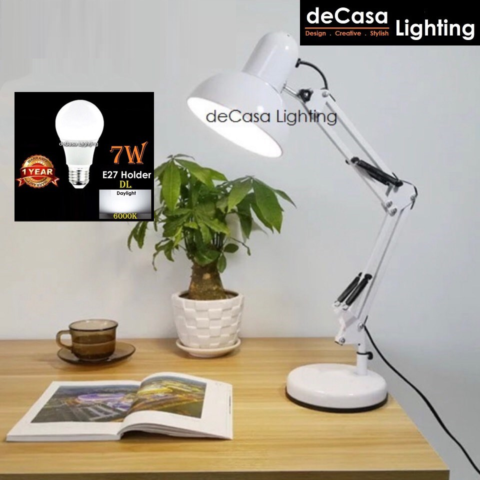 [M Size] * (SET WITH LED BULB) Adjustable Study Table Lamp Desk Lamp Designer Light Ikea Style TABLE LAMP (810-406)