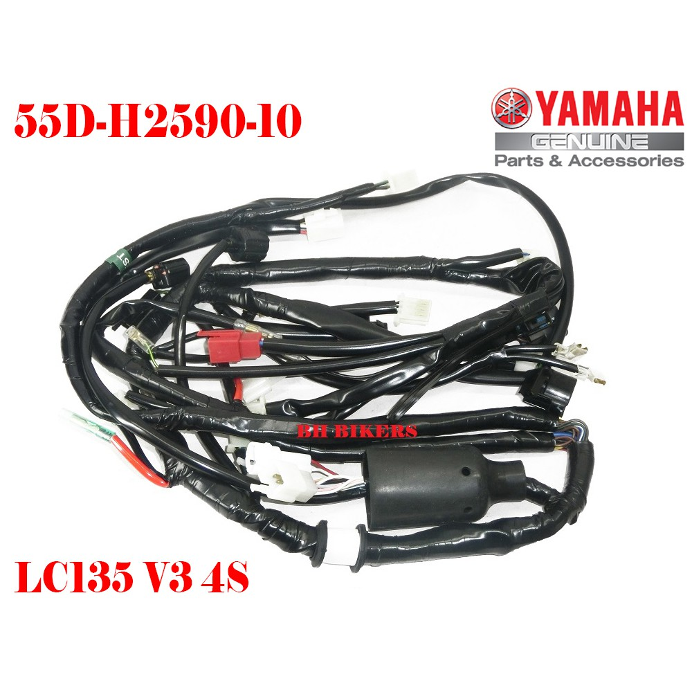 WIRE HARNESS YAMAHA LC135 V3 4S 4 SD WIRING 100% ORIGINAL HLY on