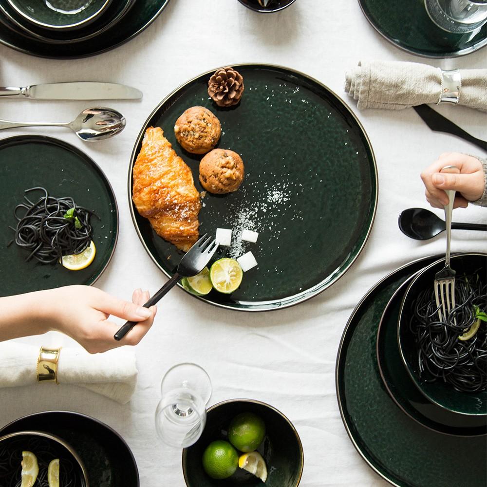 Modern Housewife Japanese Style Retro Glaze Glaze Ceramic Bowl Dish Dish Special