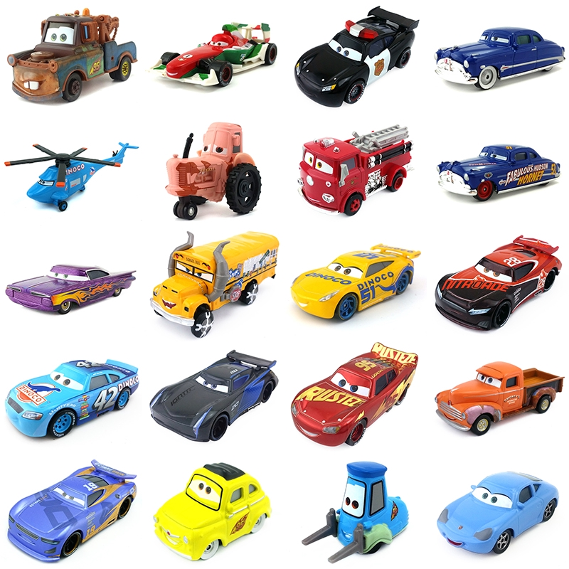 6Pcs Pull Back Cars Toy 3 Lightning Cruz Plastic Cartoon Model Kids Xmas Gift