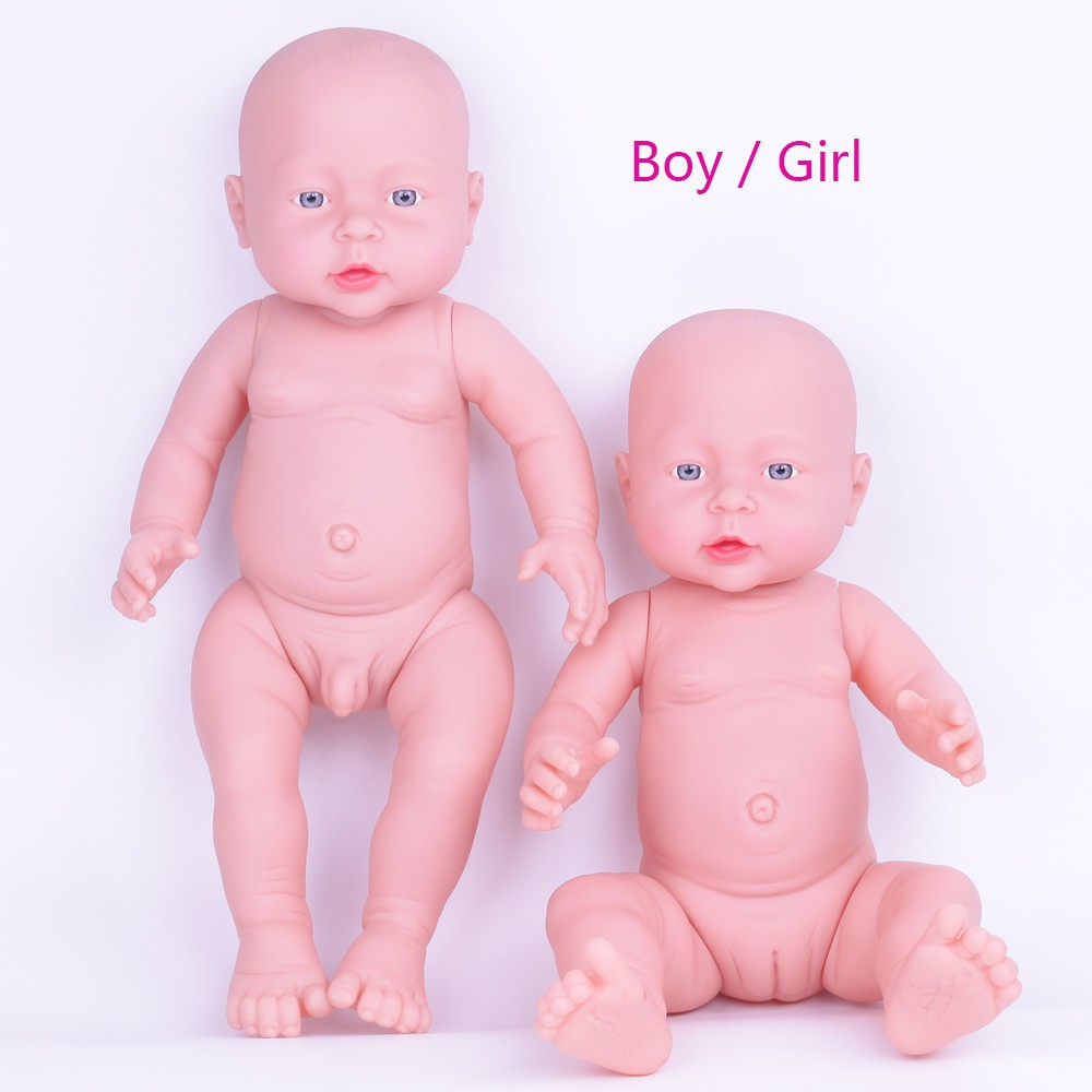 Baby Doll Toy Boy Girl 41 Cm Soft Washable Silicone Vinyl Baby Alive Dolls Shopee Malaysia