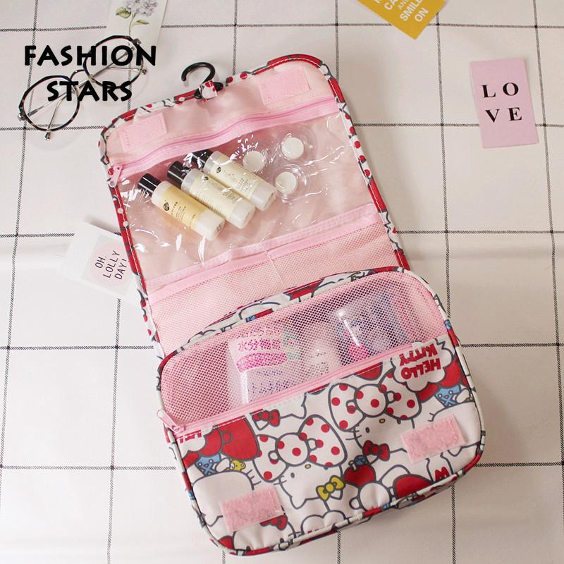 c132a9b98 Hello kitty large capacity travel wash bag cartoon hanging waterproof  storage | Shopee Malaysia
