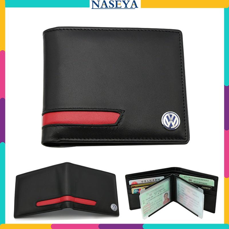 Mens High Quality Black Real Leather Credit Card Holder Wallet 127