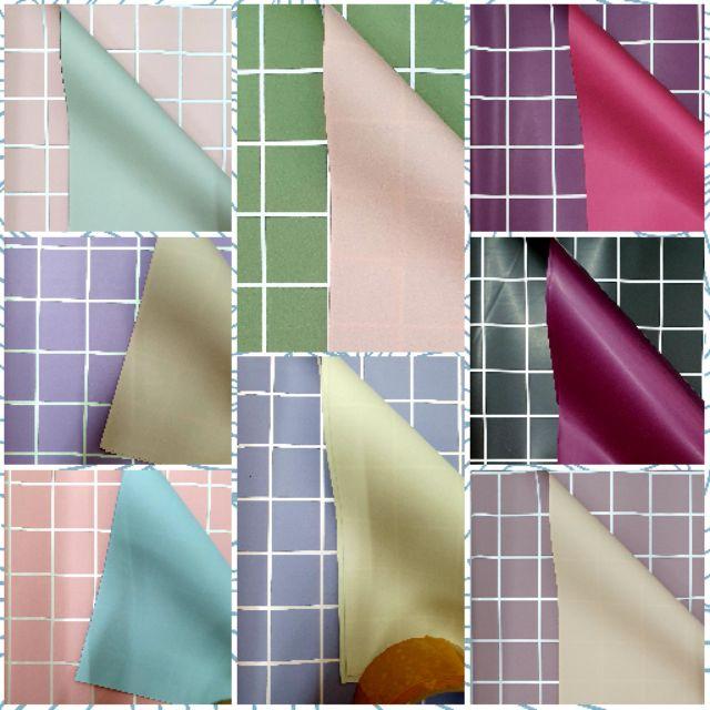 🌹⚘ Flower Wrapping Paper Roman Grid Double Colour (1 pcs)🌹⚘