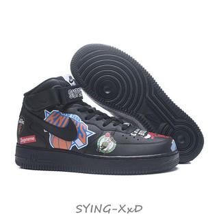 good selling get cheap innovative design Supreme x NBA x NIKE Air Force 1 AF1 36-45 Black Graffiti Low top sneakers