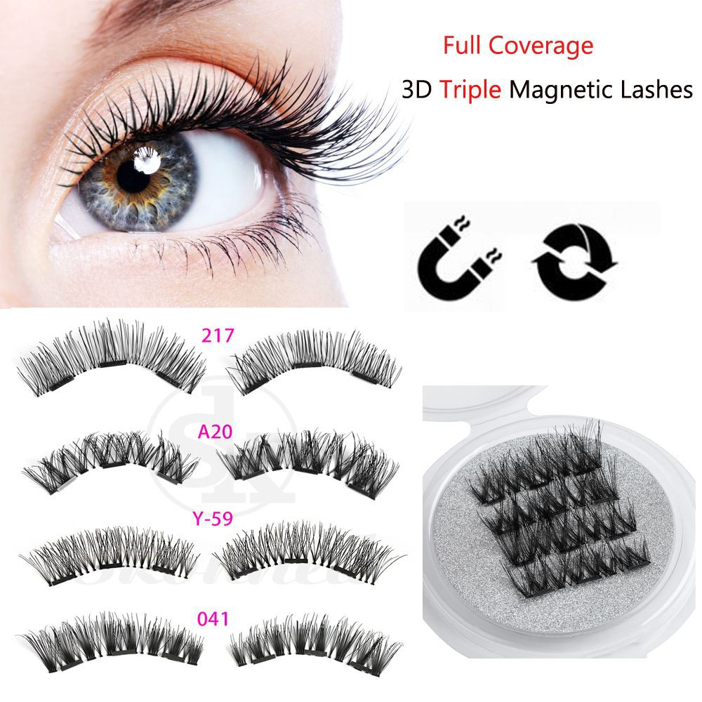 9a89e7d4624 ProductImage. ProductImage. SK SKONHED 4 Pcs Extension Tools False  Eyelashes Triple Magnet ...