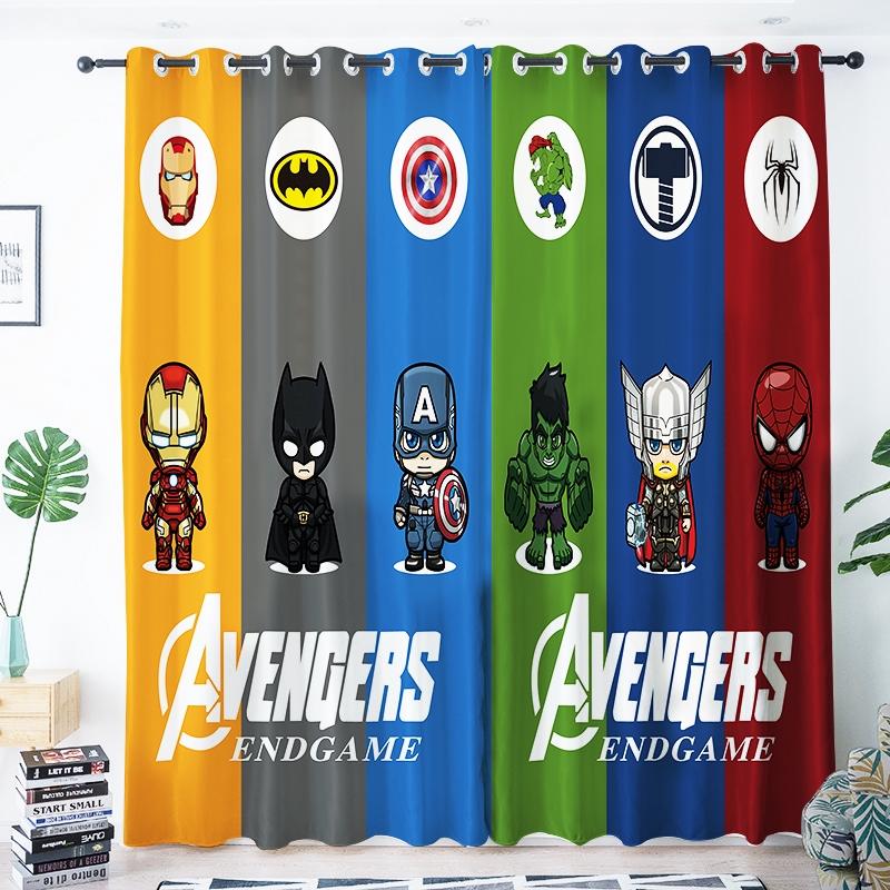 Marvel Captain America Spiderman Kids Room Boys Bedroom Blackout Curtains Shopee Malaysia