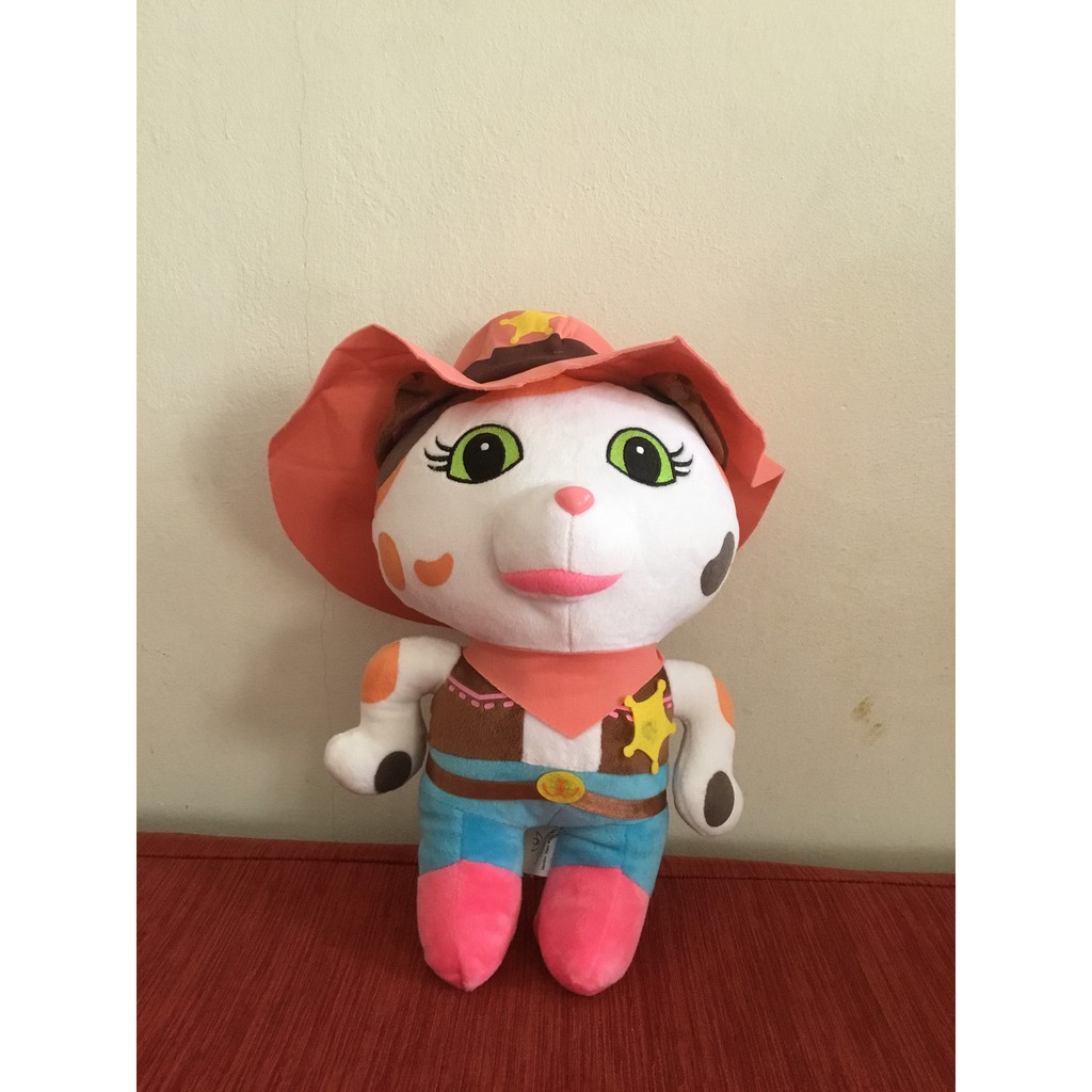 Cat Dressed Like A Cowboy / Cowgirl Plush Toy  50 cm    Shopee ...