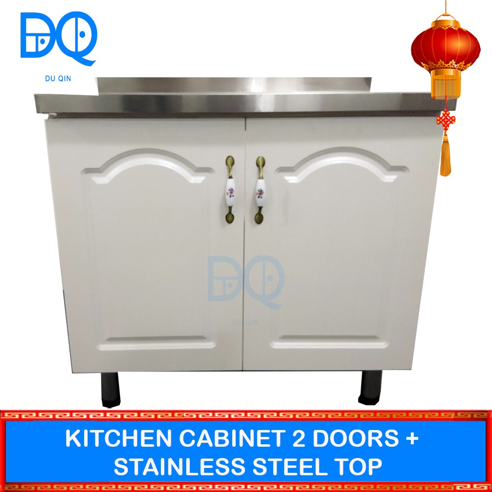 Kitchen Cabinet 2 Doors With Stainless Steel Top Shopee Malaysia