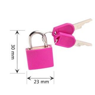 Neon Colored Plastic Coated Brass Padlock Premium Quality Travel Luggage Office Home Alloy Padlock 23mm 12pcs/pack