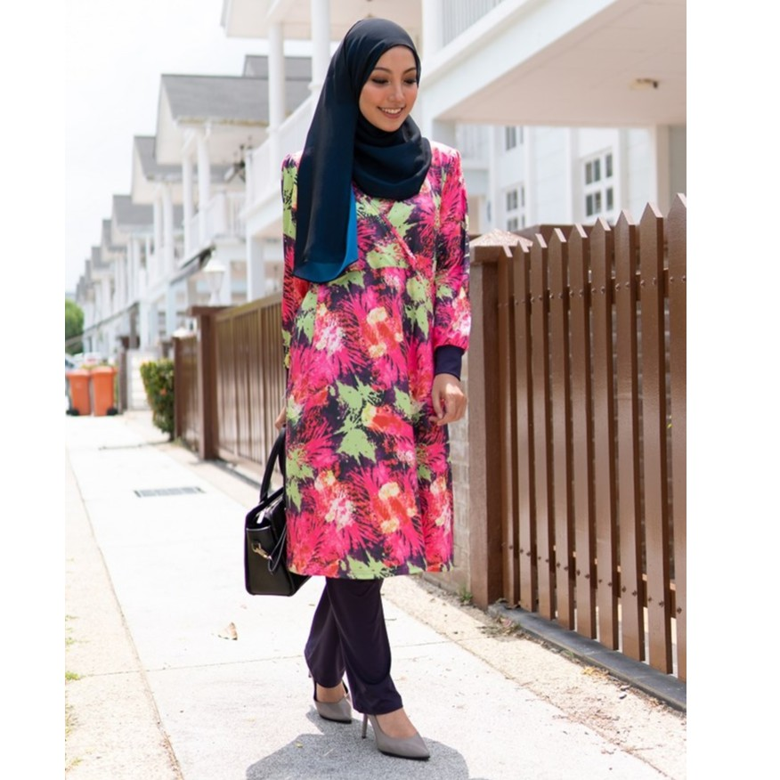 QISSARA HELWA EXCLUSIVE MOMMY MATERNITY AND NURSING BLOUSE AND PANT (H110)