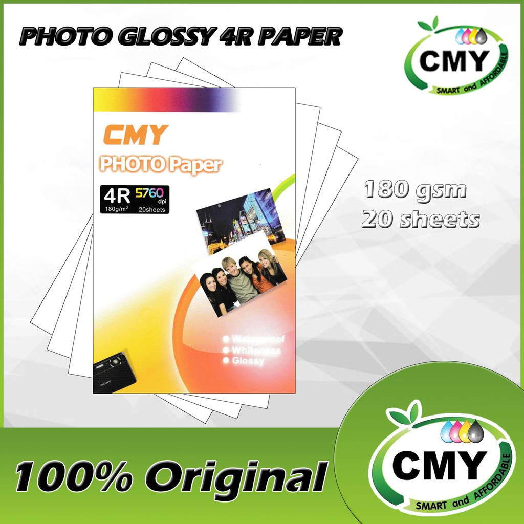 CMY Glossy Photo Paper (4R/180gsm/20sht)