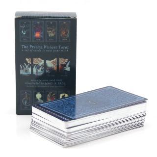 Prisma Visions Tarot Cards English Version Silver Edge Game Card
