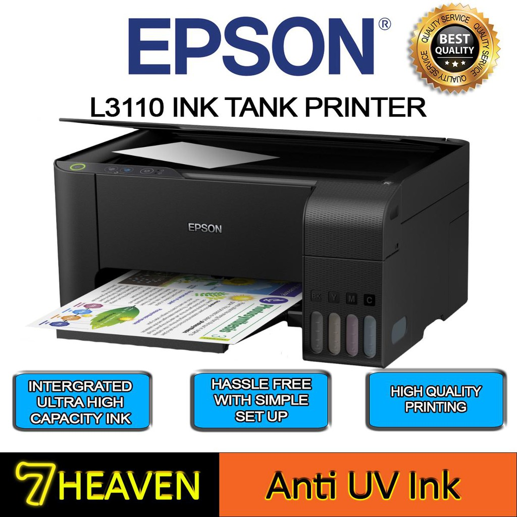 Epson L3110 ECOTANK All-In-One Tank System Printer + hybird refill Ink
