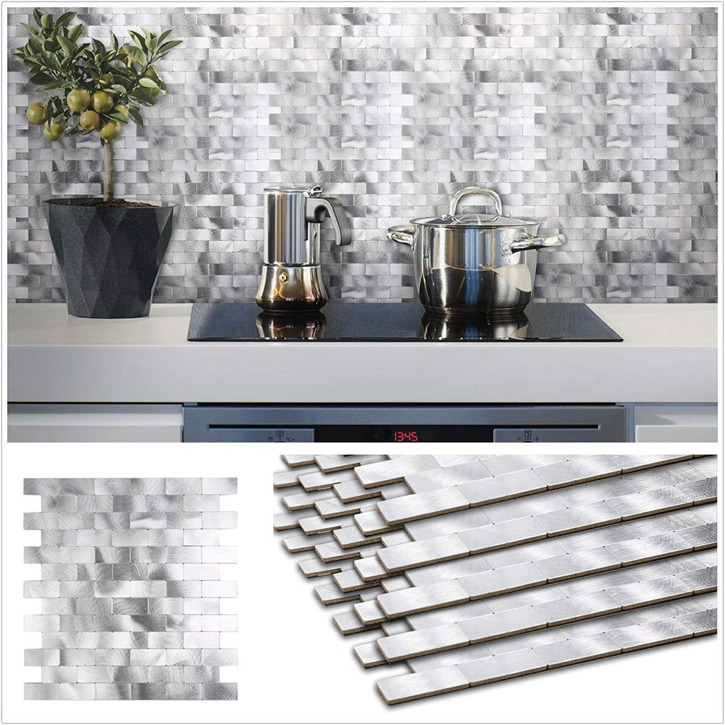- Tile Backsplash For Kitchen Wall Decor Meal Mosaic Tiles Sticker