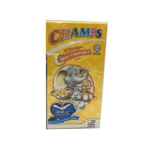 Champs C Chewable Tablet Vitamin C (30mg x 100's)