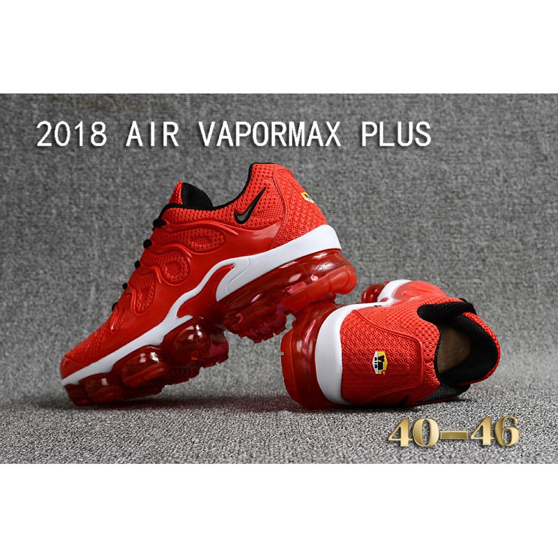 sports shoes bac74 d6d67 original nike air max 2018 vapormax plus all red sport running shoes size  40-46