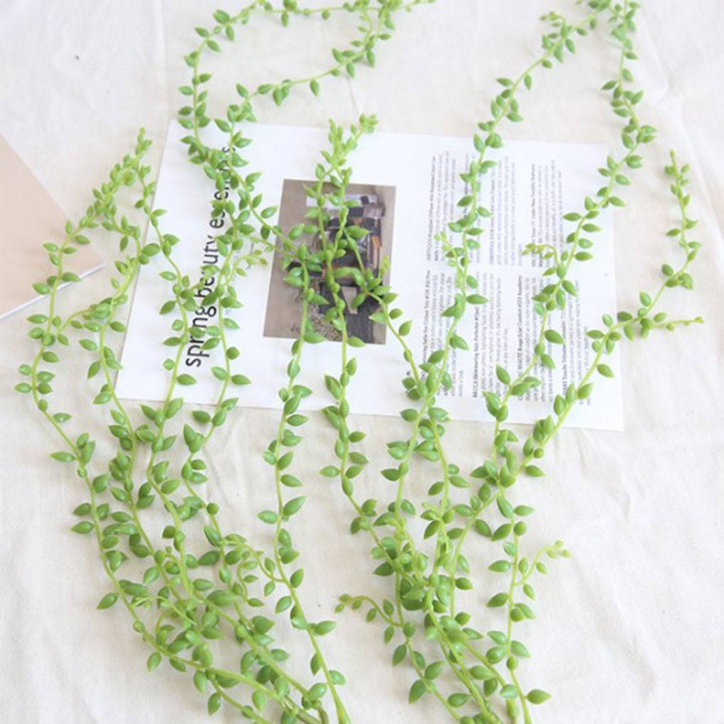82cm Wall Hanging Artificial Plant Rattan Vine Home Garland Garden Wedding Decoration Simulation Golden Bell Green Leaves Plant Artificial Decorations