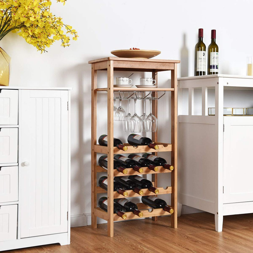 Red Wine Cabinet Display Stand Wine Rack Floor Home Wall Small Red Wine Bottle Holder Shopee Malaysia
