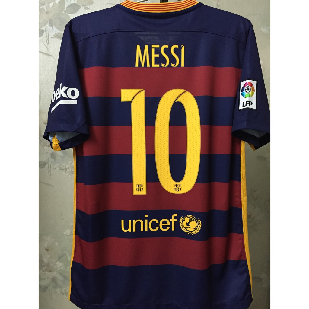 promo code 3a08b a4612 Official Barcelona MESSI #10 Home Kit 2015/16