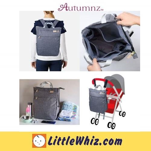 Autumnz: GORGEOUS Diaper Backpack - Ash Grey