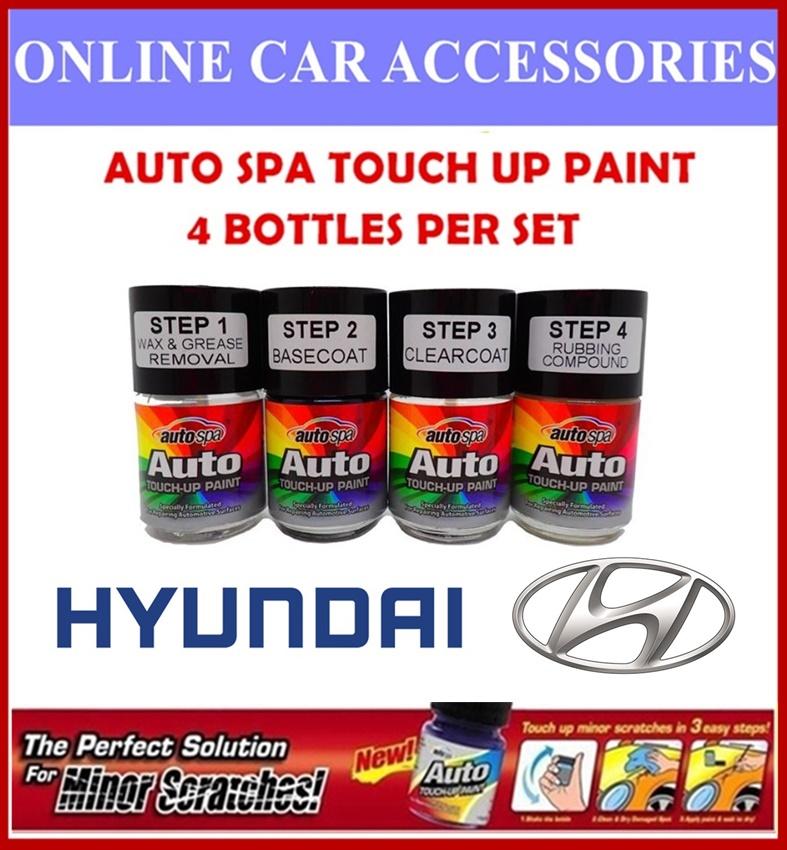 HYUNDAI CAR Original Touch Up Paint - AUTOSPA Touch Up Combo Set (4 Bottles Per Set)