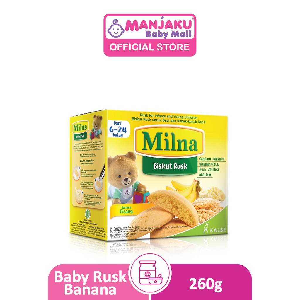 Milna Baby Rusk (260g) - Assorted Flavors