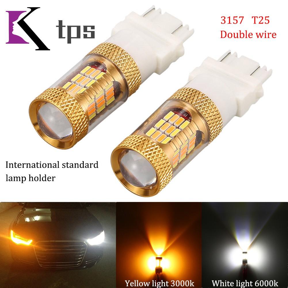 3157 LED white bulbs 54 SMD ultra bright 2pc Light Bulbs