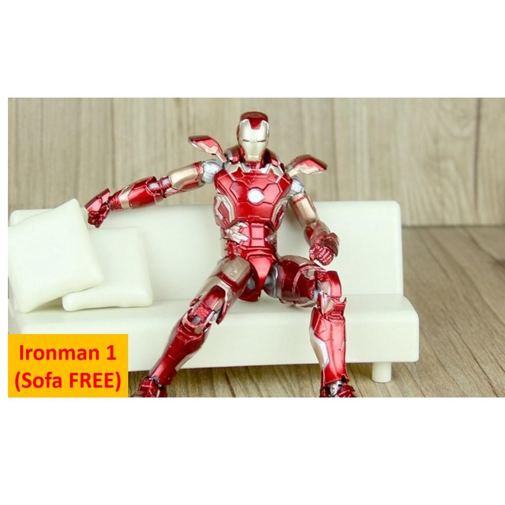 [MARVEL] 18cm Height Iron Man Model Toy Collection Set 正版漫威钢铁侠模型