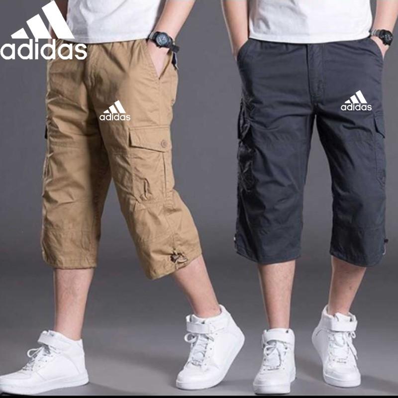 barbería Juntar bienestar  ready stock】Adidas men's multi-pocket cropped pants casual pants baggy  cropped pants shorts men's pants Adidas high quality men's pants summer new  cargo shorts | Shopee Malaysia
