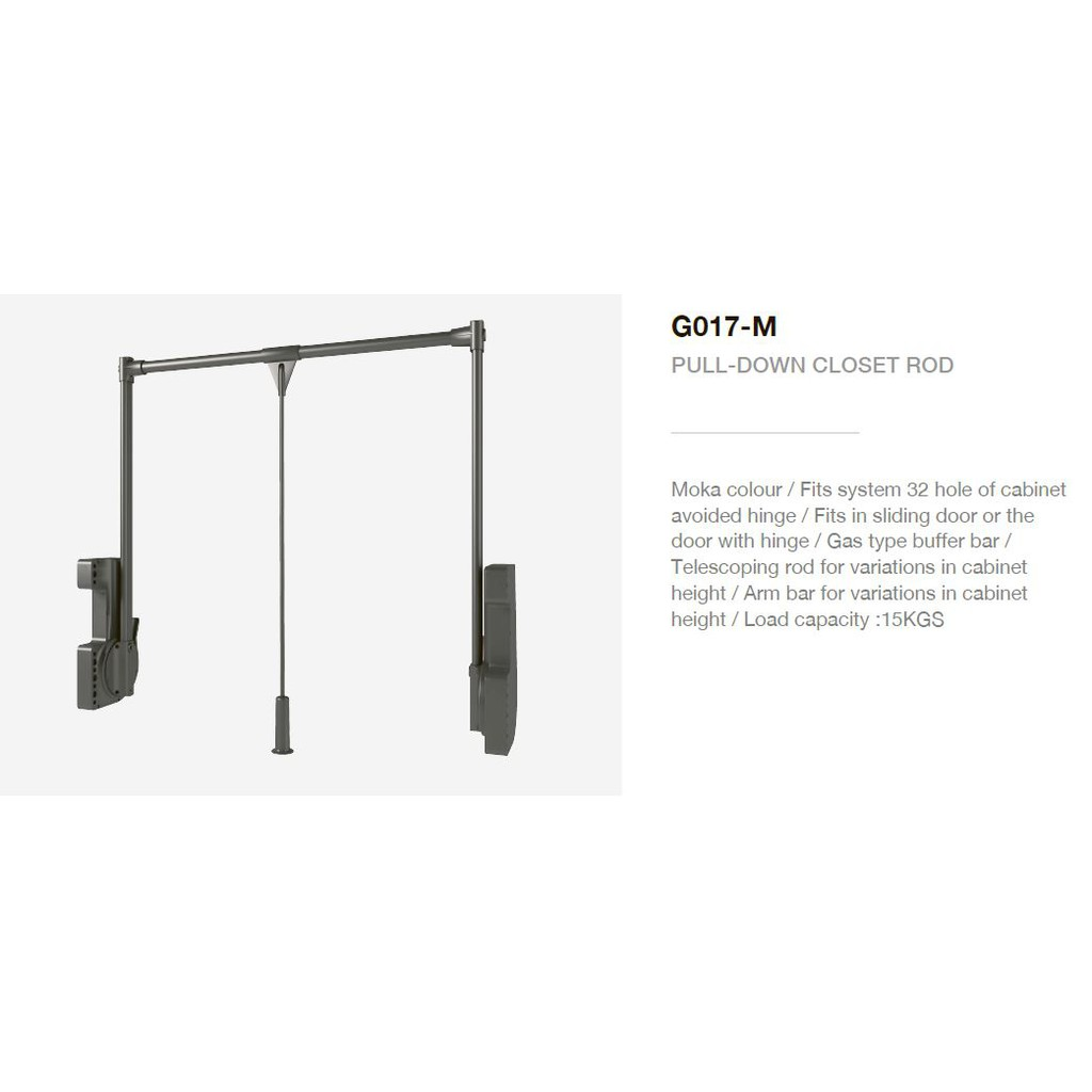 Botti Pull Down Closet Rod New Series