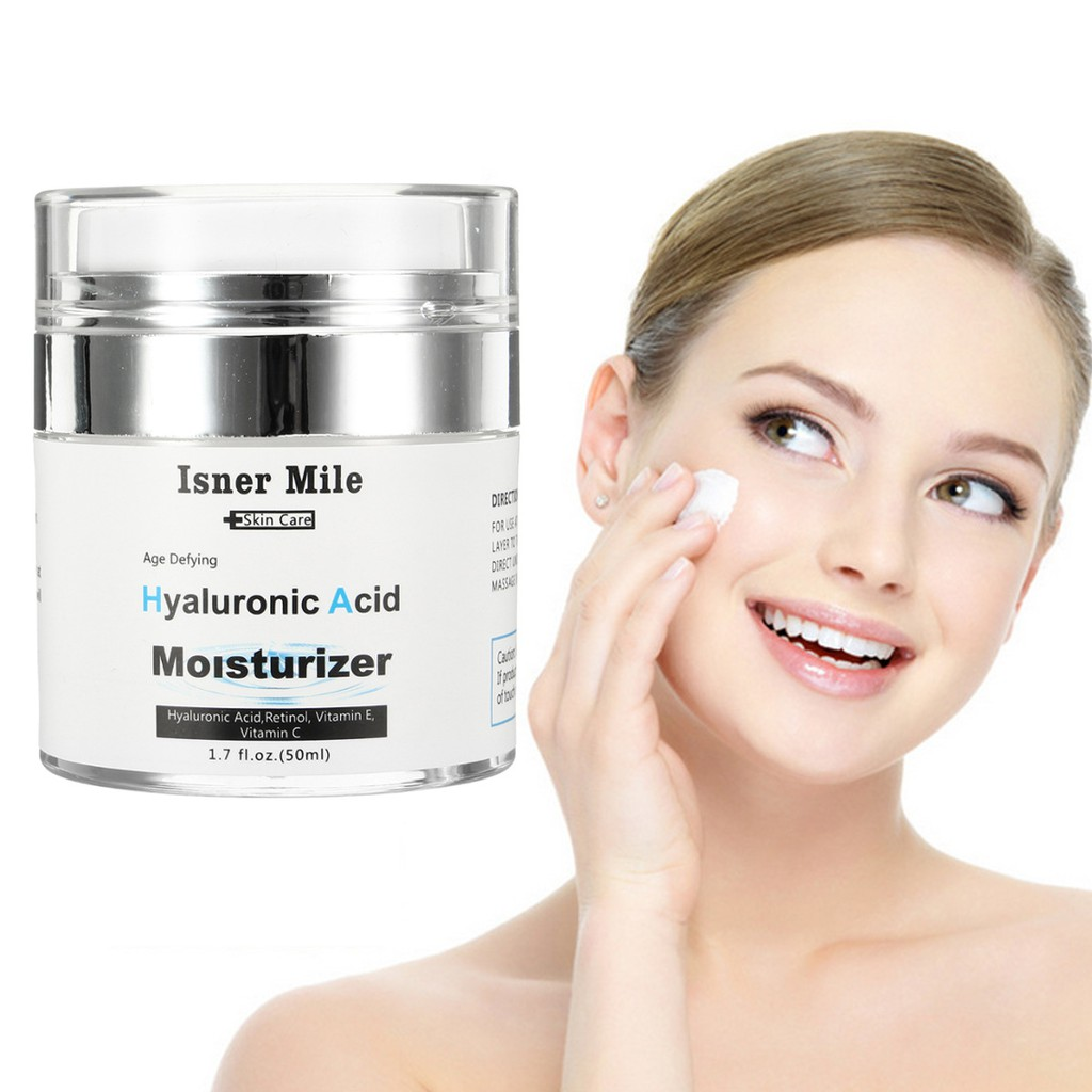 Isner Mile Hyaluronic Acid Vitamin A E Retinol Moisturizer Cream Facial Serum Oil Skin Care Anti Aging Moisturizing Shopee Malaysia