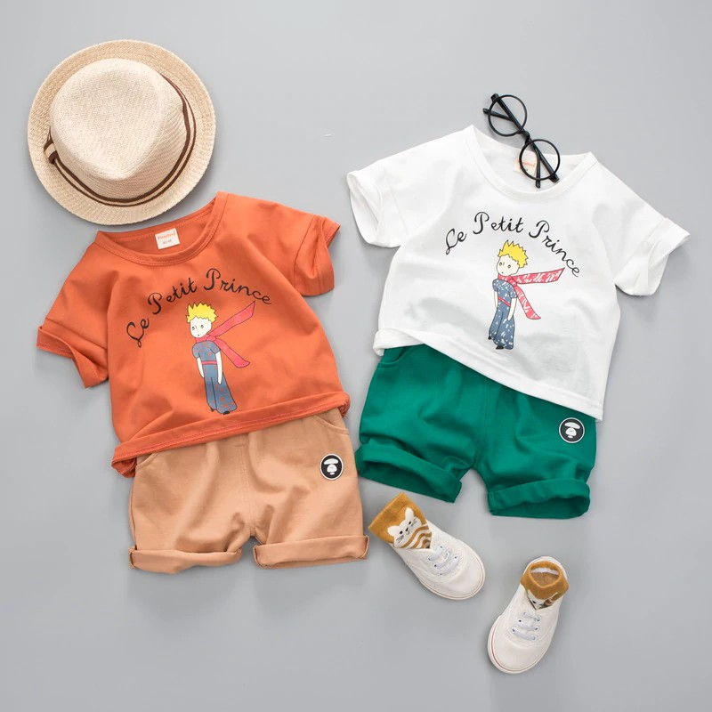 ea6e80006af73 FREE SHIP ! Baby Girls Boy Clothing Sets Brand Le Petit Prince Summer Kids  Clothes Sets