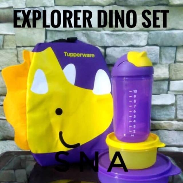 TUPPERWARE LITTLE EXPLORER DINO-SET WITH BAG (4pcs)