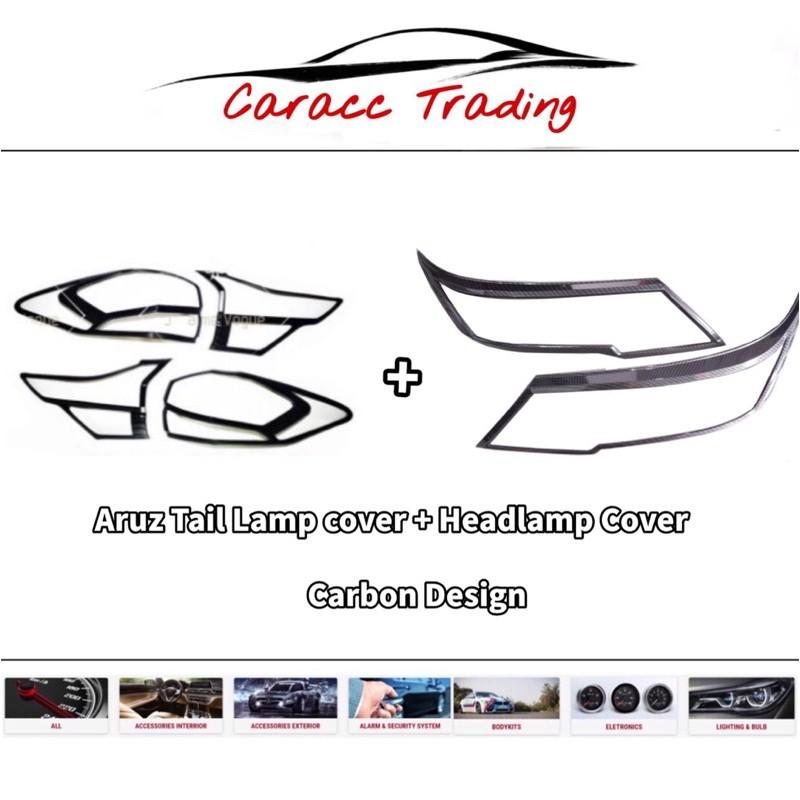 Aruz Headlamp cover /Tail lamp cover Carbon