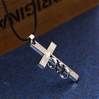 Collarbone chain retro cool cross necklace Han edition sweater chain pendant