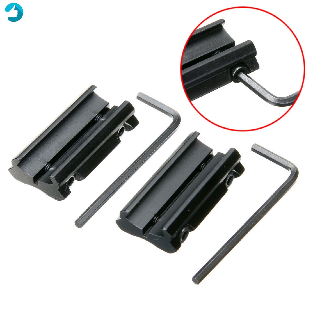 """2PCS Picatinny 11mm Dovetail To 7//8/"""" 20mm Weaver Rail Adapter Mount Simple"""