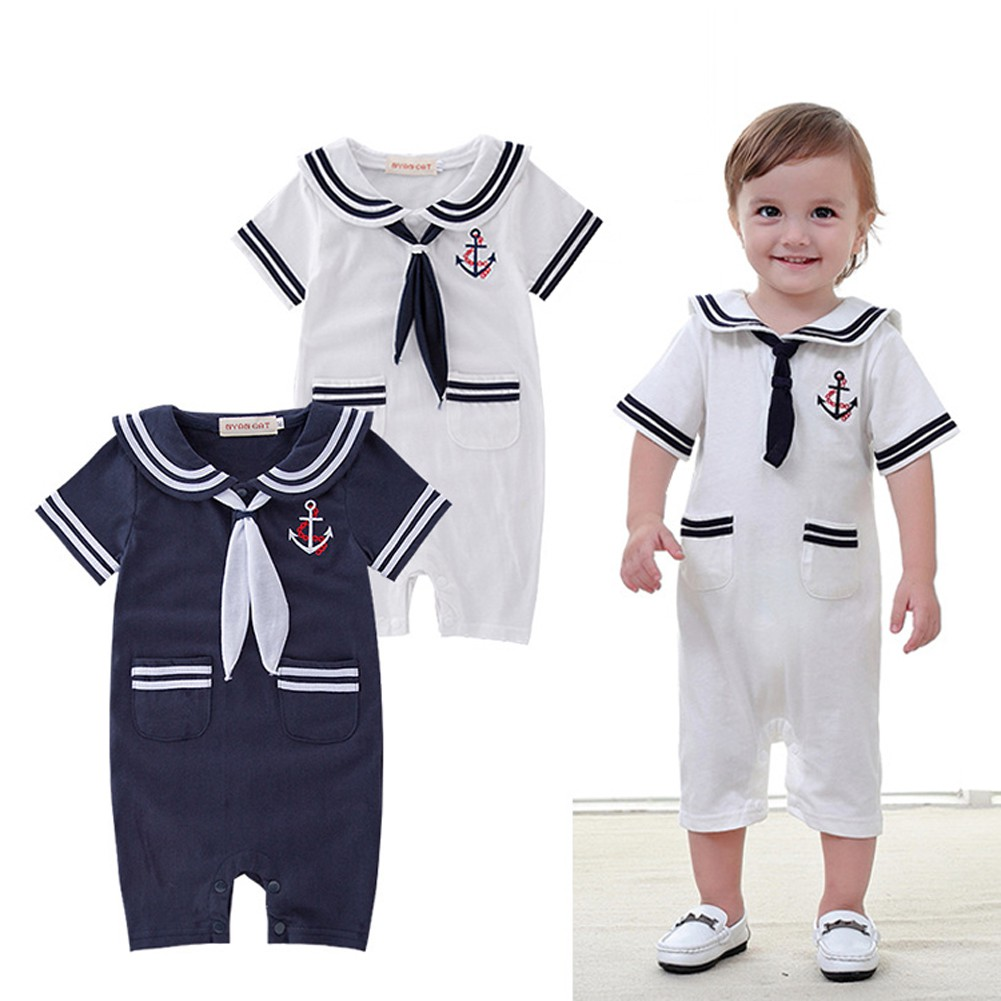 Pilot Uniform 1 Funny Cute Short Sleeve Cool Funny Baby Rompers Baby Grows 0-18M
