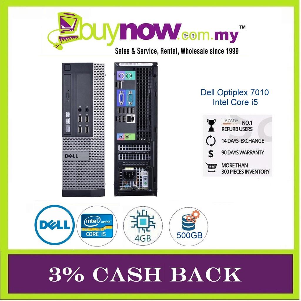 REFURBISHED DESKTOP Dell Optiplex 7010 i5/4GB/500GB/Win OS 3%CASHBACK